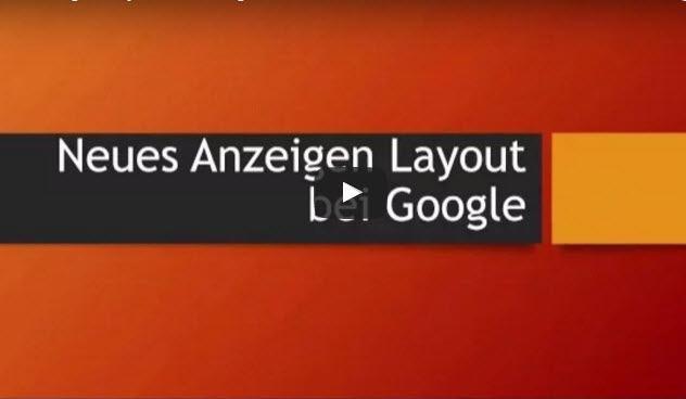 Google Anzeigen Layout