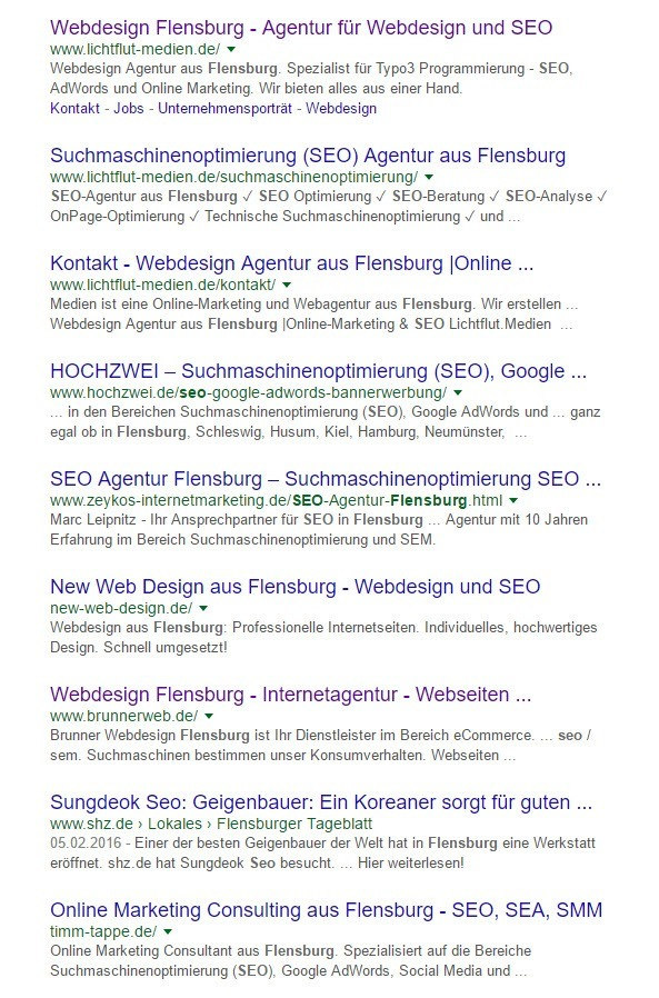 Ranking SEO Flensburg