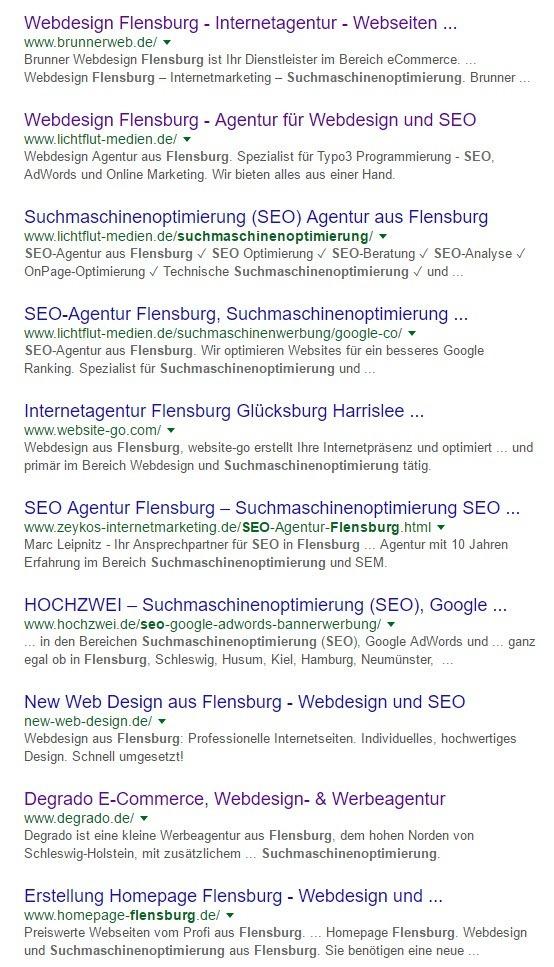 Suchmaschinenoptimierung Flensburg